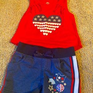 Girls America Matching Set - XS 4-5